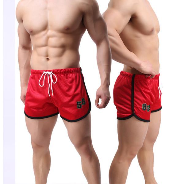 Moda Estate Stile Costumi da bagno Pantaloncini da spiaggia Marca Pantaloni ad asciugatura rapida Pantaloni corti da uomo Bordo Nero Taglia M-3XL