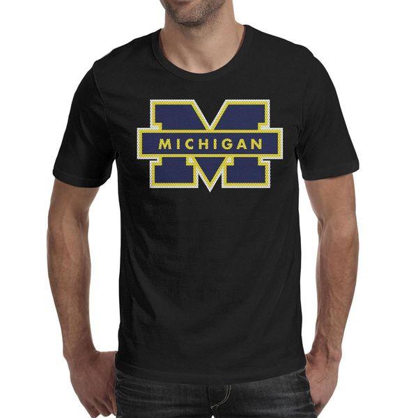 Michigan Wolverines football logo Mesh Mens T Shirt black Shirts Custom T Shirts Vintage Undershirt Mvp Bulk Shirt Black