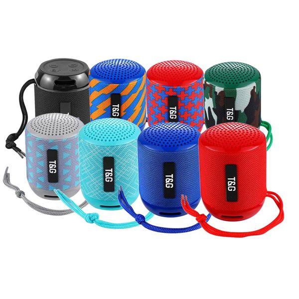TG129 Mini Taşınabilir Bluetooth Hoparlörler Kablosuz Subwoofer Stereo HiFi Ses Kutusu Handsfree FM USB AUX Açık Hoparlör Ses Çalar