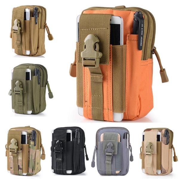 6 'de alta calidad universal al aire libre pistolera militar cinturón de cintura bolsa monedero bolsa monedero bolsa de teléfono con cremallera para iPhone GSZ500