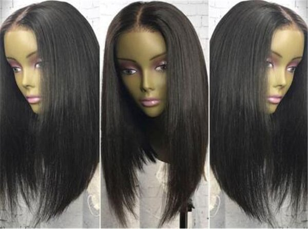 Cheap Lace Front Wigs With Baby Hair Full Lace Wig Brazilian Hair Straight Pre Plucked Human Hair Wigs for black women