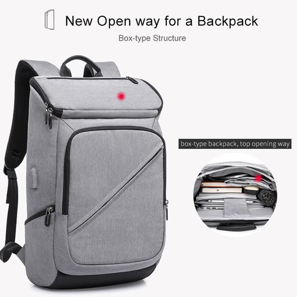 Moda Erkekler Kadınlar için 15.6 Laptop Sırt Çantası USB Şarj Sırt Çantası Erkek Mochilas Seyahat Sırt Çantaları gençler için schoolbag sırt çantaları