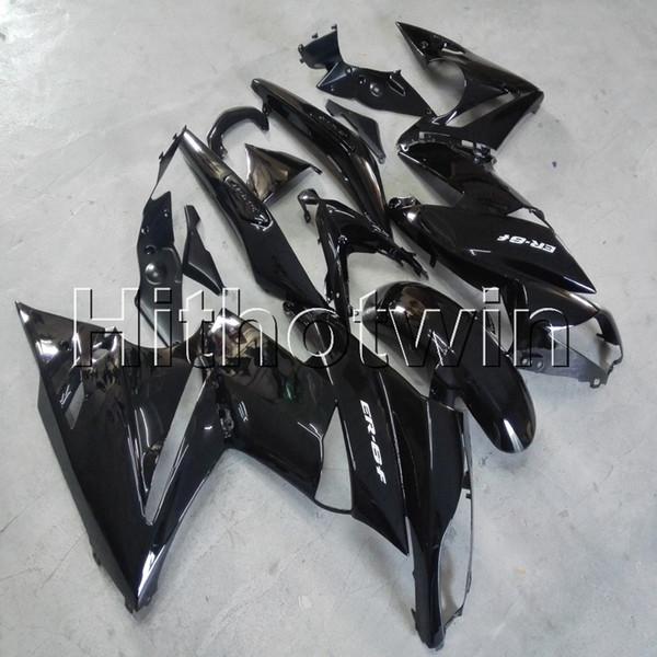 23colors + Gifts Capucha negra mate para motocicleta Kawasaki ER6F 09 10 11 ER 6F 2009 2010 2011 plástico ABS Carenado
