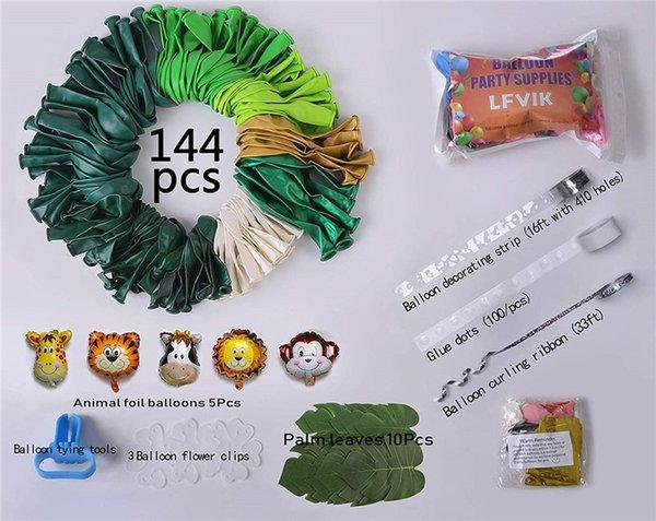 144pcs Зеленый