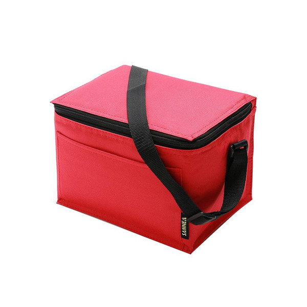 Lunch Bag Waterproof Aluminum Film Insulated Ice Pack Portable Picnic Bag For Office Camping Travel Picnic Party Cafeteria