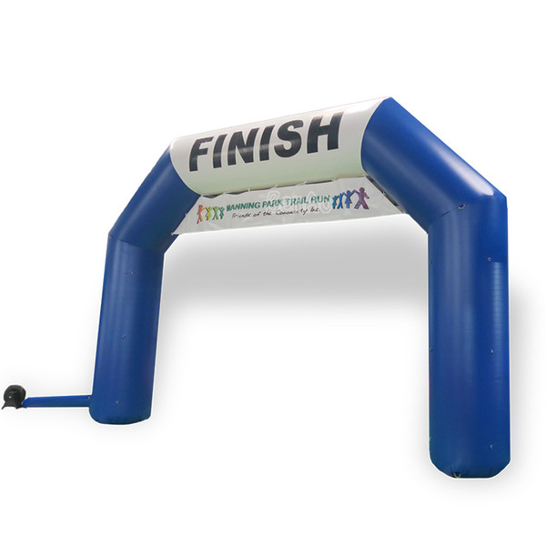 Benao R467 20 ft Blue white angle inflatable start finish line goal arch,sport event marathon archway,challenge finish arch