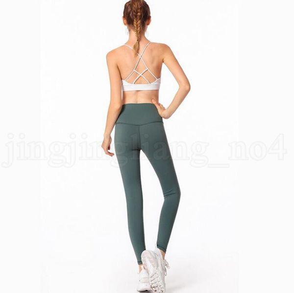top popular Gym Yoga Leggings 8 Colors Sports Elastic Yoga Pants Compression Tights Fitness Women Running Sportwear Trousers 6pcs OOA6595 2019