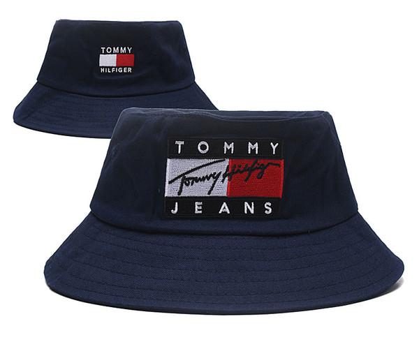Top Design Cappellino jeans Cappellino con benna logo Pescatore Pettinoso Calcio Calcio Secchi Cappelli Cotone Donna Uomo Cappellino per berretti con visiera
