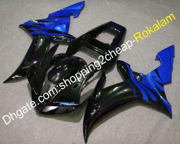 Garnitures de moto pour Yamaha YZF-R1 2002 2003 YZF R1 02 03 YZF R1 Carénage de moto en plastique ABS bleu noir
