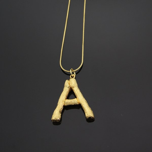 necklace stainless steel Best selling English alphabet snake bone necklace 18K gold love necklace for women men gift