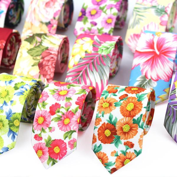 Moda floral corbata para los hombres estrechos ocasionales para hombre lazos para el banquete de boda flor flaco corbatas para mujeres impresas corbatas masculinas