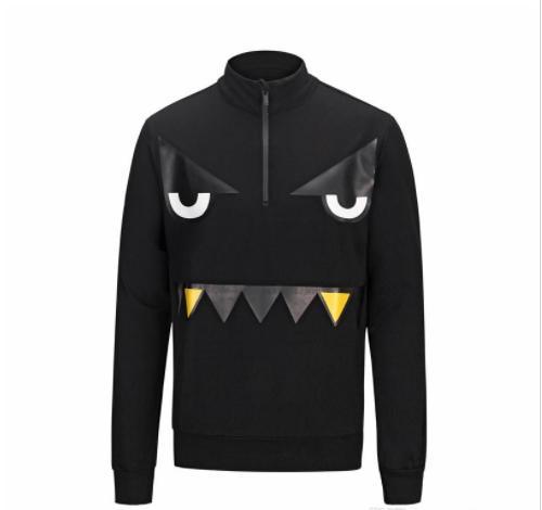 Free shipping 2018 men's sweatshirt new autumn and winter wild funny eyes men's hip hop style brand clothing fleece shirt sportswear