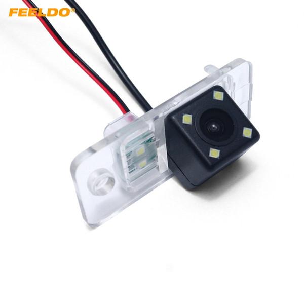 Feeldo Special Car Rear View Camera con luce principale per Audi A3 / A6 berlina parcheggio che inverte macchina fotografica # 6181