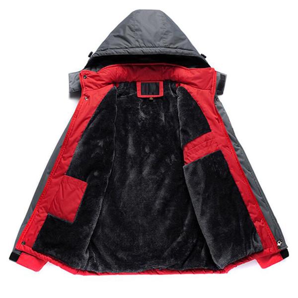 Jacke Männer Winter Dicke Fleece Wasserdichte Outwear Jacken Plus Größe 5XL Männer Windjacke Armee Parka Regenmantel Mäntel