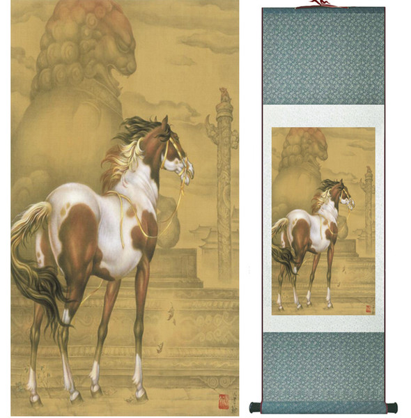 Chinese Traditional Art Painting Art Painting Horse Horse Painting Art Paint Roller 042003.