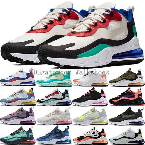 top popular New React 27C Bauhaus Be Great men women running shoes 270xReact multi-color Light Beige Chalk hyper jade mesh blue Void sneakers trainers 2019