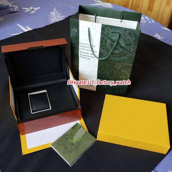 2019 mise à niveau en bois papiers de la boîte 15400ST 26331ST ROYAL OAK boîte originale montres pour hommes montres boîtes boîtes cadeau boîte montres de luxe boîtes en bois brun