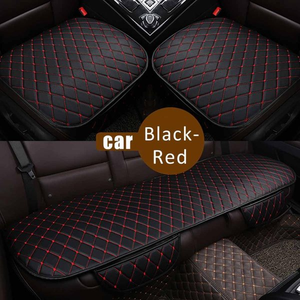 Astounding Universal Leather Car Seat Cover Set Front Rear Backseat Seat Cushion Protector Mat Pad Beige Coffee Black Red Replacement Auto Seat Covers Theyellowbook Wood Chair Design Ideas Theyellowbookinfo