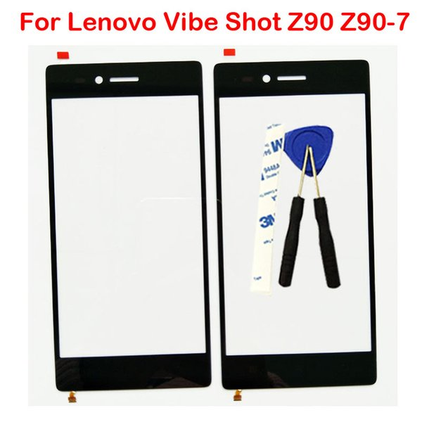For Lenovo Vibe Shot Z90 Z90-7 Front Lens Outter Glass Screen With Flex Cable Repair Parts New