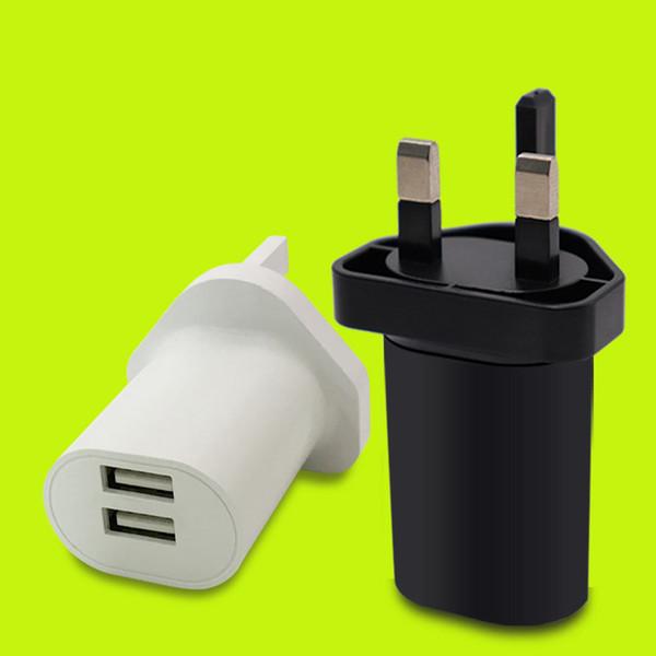 Премиум ВЕЛИКОБРИТАНИЯ 5V / 1A /2.1A/2.4A Зарядное устройство USB Разъем универсального зарядного устройства для Великобритании Сетевое зарядное устройство Адаптер питания USB Зарядные устройства