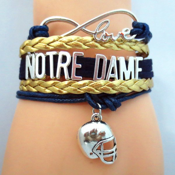 DOLON Infinity Love Notre Dame Football Bracelet College Team Gift