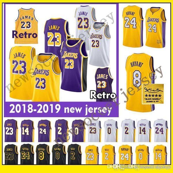 info for d8345 2ccf2 2019 LeBron Jerseys 2018 2019 Los Angeles 23 LeBron James Lakers 2 Lonzo  Ball 0 Kyle Kuzma 24 Kobe Bryant Lakers Basketball Jersey Kobe From  Rfv_tgb, ...