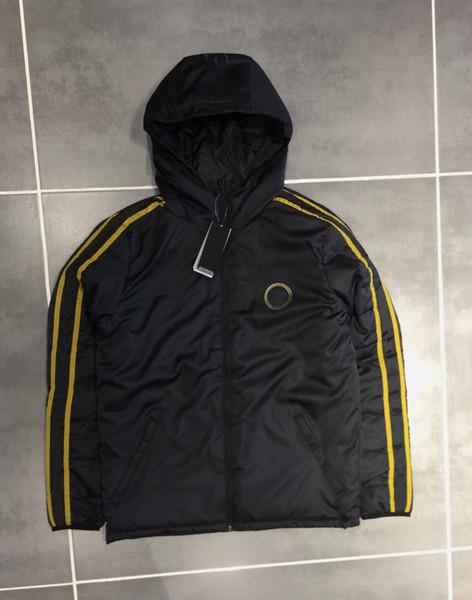19 20 New Hot Winter Designer Hommes Marque coton rembourré Coat avec des vestes Zipper garder au chaud Balles à capuche Sport Casual S-4XL Manteau B101440Q