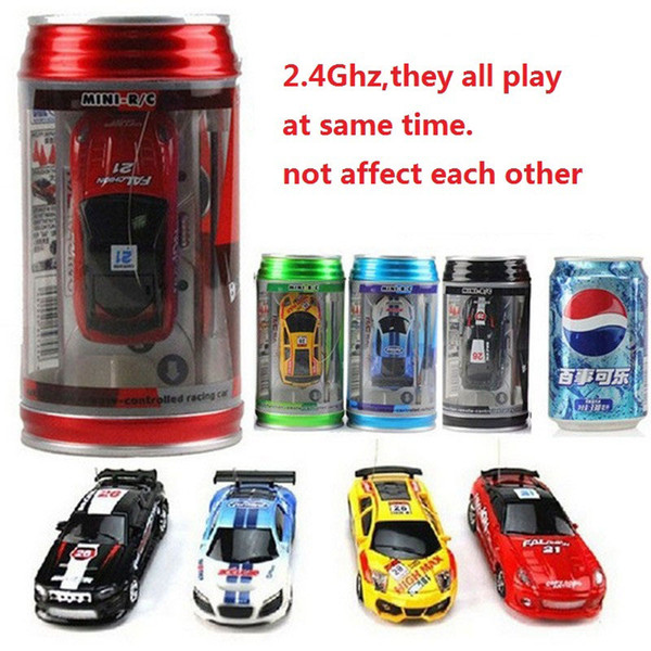 top popular 24 Colors Hot Sales 20Km h Coke Can Mini RC Car Radio Remote Control Micro Racing Car 3 Frequencies Toy For Kids Gifts RC Models 2020