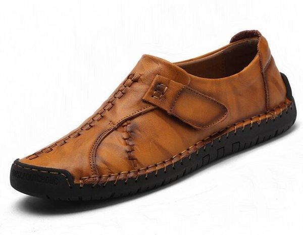 British style retro genuine luxury shoes breathable designer shoes.business shoes driving casual shoes