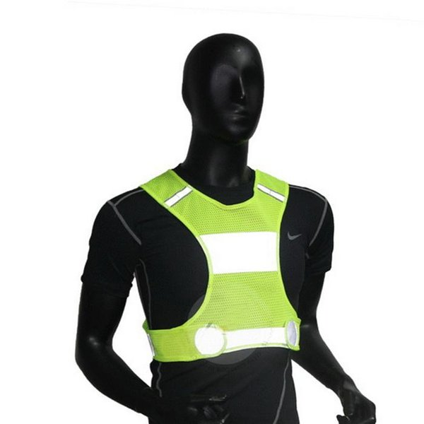 Men Outdoor Running Reflective Vest Lightweight Unisex Safety Sleeveless Short Solid Sport All Seasons Vest