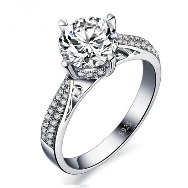 Personalidad Diamante Anillo de mujer Anillo de diamantes Joyería Estilo de moda femenina 5 Tamaños Selección Anillo de joyería al por mayor