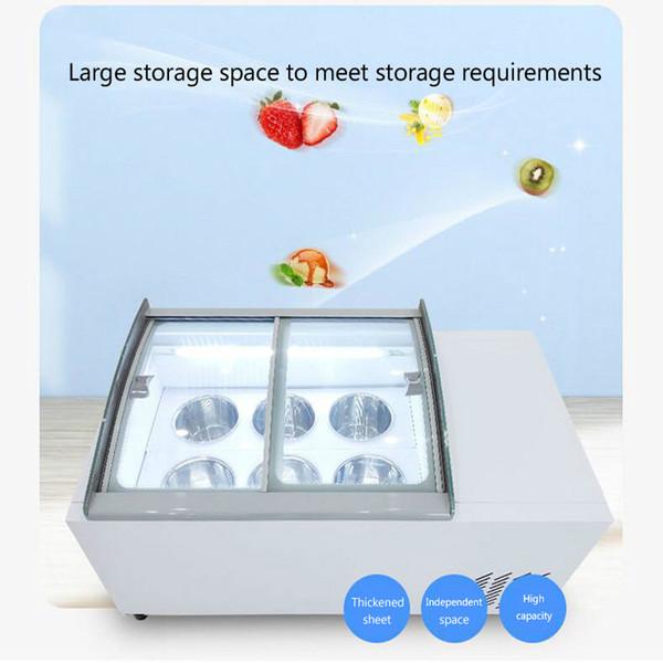 best selling 6 barrels   6 boxes Desktop ice cream display cabinet commercial freezer for cold drinks shop store supermarket ice cream display cabinet
