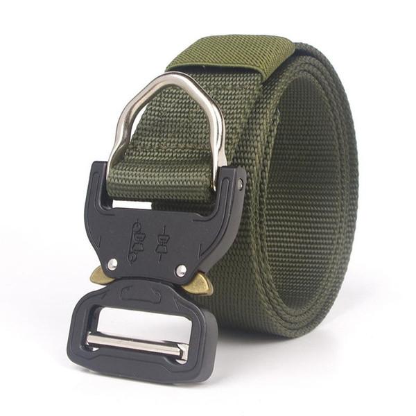 Cintur/ón T/áctico de Hombres Estilo Militar Cintur/ón de Nylon con Hebilla Metal de Liberaci/ón R/ápida