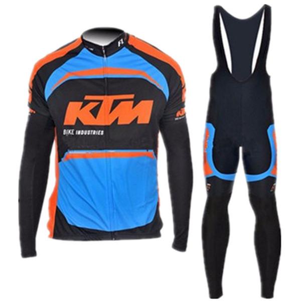 KTM team Велоспорт с длинными рукавами Джерси (нагрудник) брюки наборы 2019 горячий Велоспорт быстрая сушка дышащая мужская велоспорт одежда