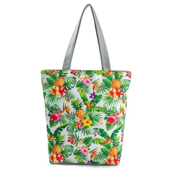 Originality Fund Pineapple Printing Package Shopping Bag Nation Feng Shui If Canvas Women's Handbag
