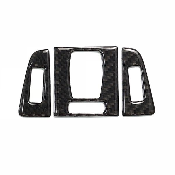 Kohlefaser Center Interior Zentralsteuerung Outlet Klimaanlage Vent Frame Trim Aufkleber Taste für BMW 3er F30 F34 (2013-2018) 3GT