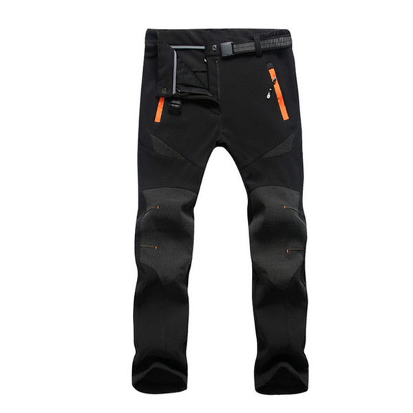 2019 New Winter Men Hiking Pants Outdoor Softshell Trousers Waterproof Windproof Thermal for Camping Ski Climbing RM139