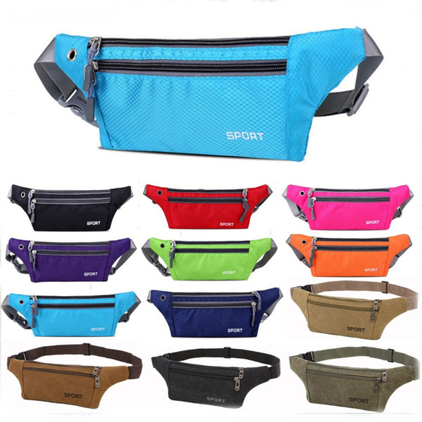 top popular Running Sport Gym Bags Hiking Cycling Outdoor Waist Bag Pouch Portable Fitness Equipment Waterproof Package Bags Fashion Accessories 2020