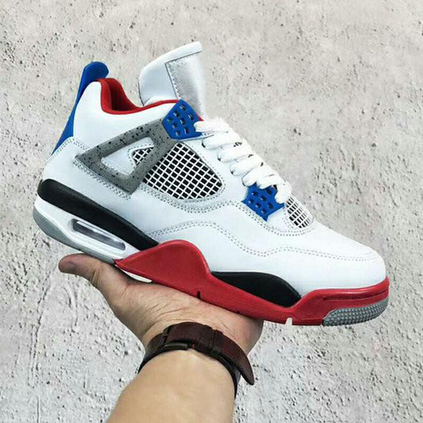 Hot Bred Jumpman 4 4s IV What The Cactus Laser Wings Mens Kids Basketball Shoes Denim Blue Eminem Pale Citron Men Sports Designer Sneakers