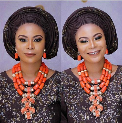 Beautiful Indian Bridal Statement Wedding Nigerian Coral Beads Necklace Women Jewelry Set CG003 C19010301