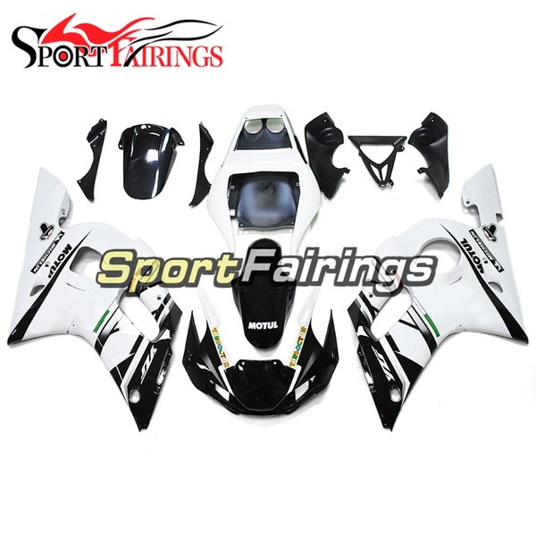 White Injection Fairings For Yamaha YZF600 YZF R6 1998 -2002 1999 2000 2001 Plastics ABS Motorcycle Fairing Kit Body Frames Cowlings Cover