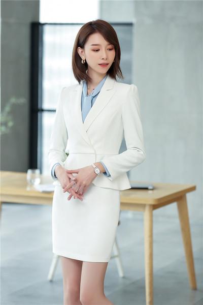 white skirt suit