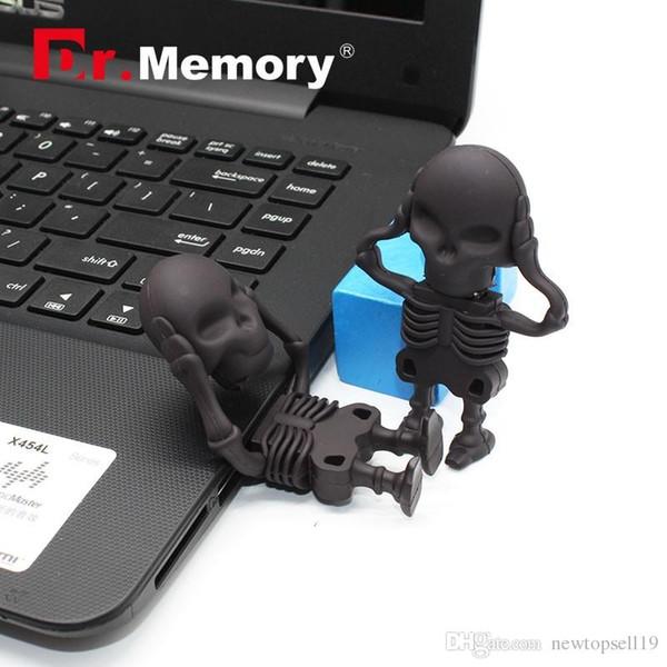 Флэш-накопитель Dr.Memory USB Прохладный 64 ГБ / 32 ГБ / 16 ГБ / 8 ГБ USB 2.0 64 ГБ / 32 ГБ USB-накопитель Skeleton USB с флеш-памятью Стильный накопитель Captain America