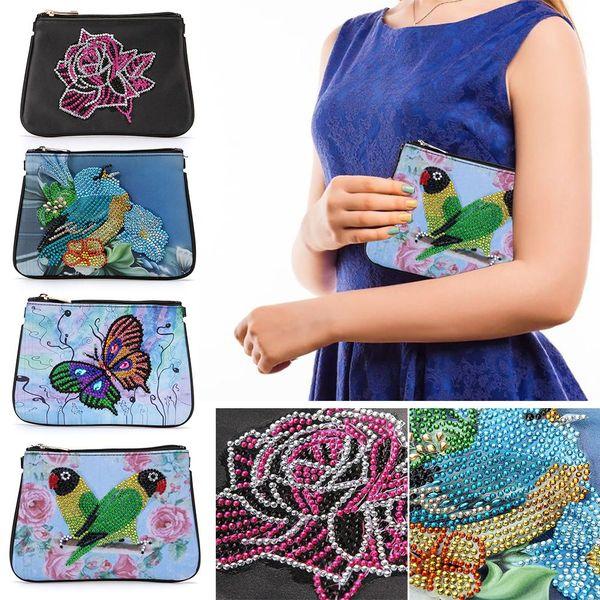 Bricolage diamant peinture sac à main d'embrayage sac à main Croix broderie Portefeuille point Sac à main National Style de perçage pour femmes Gifts