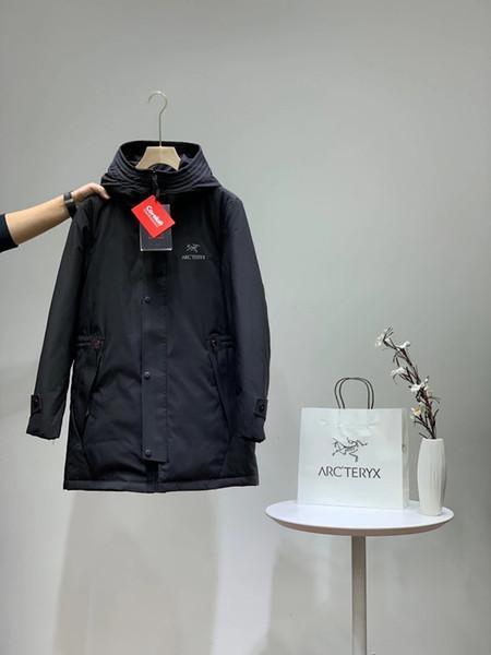 19fw lüks markalar ARC uzun Aşağı ceket Coat rüzgarlık Ceket Erkekler Kadınlar Streetwear Tişörtü Açık ceket tasarımı
