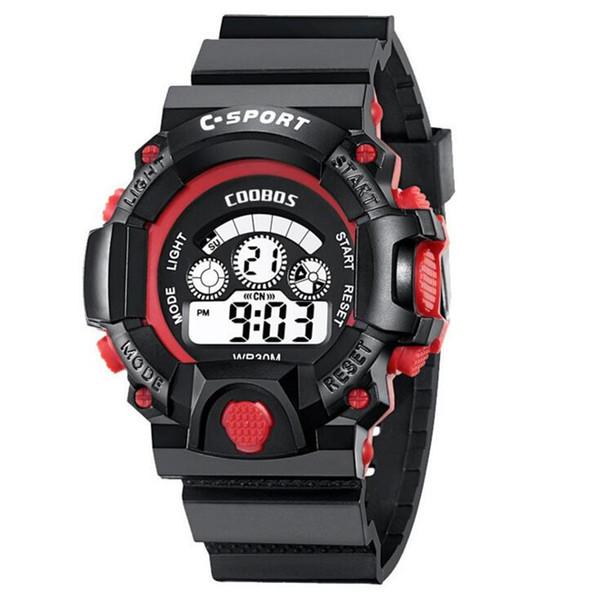Children Watch Life Waterproof Digital LED Sports Waistwatch Kids Alarm Calendar Watch Boys Girls Luminous Gift Watches