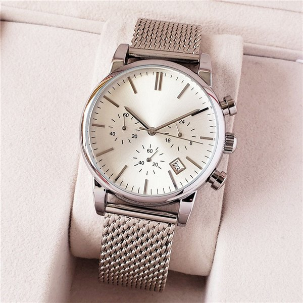 Wholesale Cheap Price Mens Sport Wrist Watch 40mm Quartz Movement Male Time Clock Watch with Stainless steel Band offshore