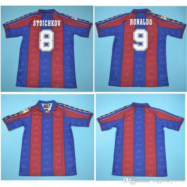 Thai 96 97 Ronaldo Maglia da calcio retrò Maglia da calcio 1996 1997 Maglia Ronaldo Classica maglia da piede