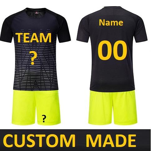 Customize Men futebol Soccer Jerseys Set Youth Kids Football Training Suit maillot de foot Custom Your Name Number DK2020ZQ