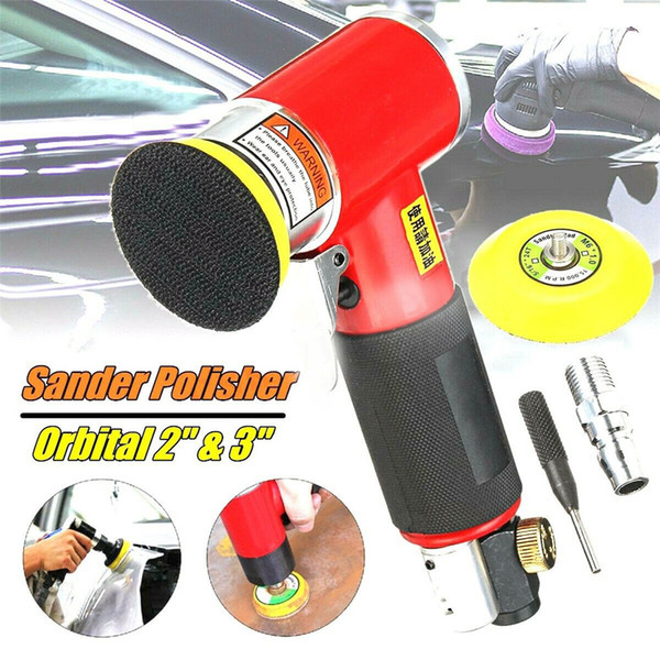top popular New Mini Air Sander Kit Pneumatic Orbital Sander Car Polisher Polishing Machine car repair seramik kaplama Polishing Pad 21x12x5 2021